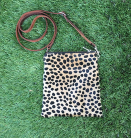Fit For A Boss Leather Cowhide Crossbody - Dalmatian