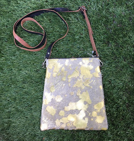 Fit For A Boss Leather Cowhide Crossbody - Gold