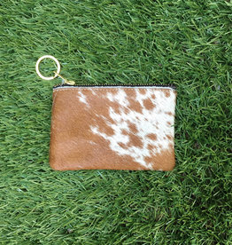 Own It Leather Cowhide Coin Purse - Chestnut