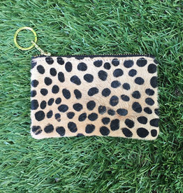 Own It Leather Cowhide Coin Purse - Dalmation