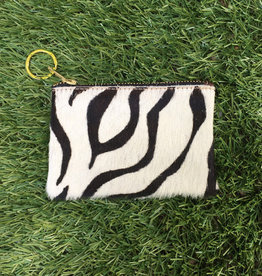 Own It Leather Cowhide Coin Purse - Zebra