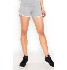 Take The Cake Spandex Track Shorts - Grey