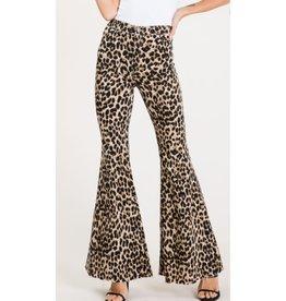 Walk Through The Wild Side Bell Bottom Pants - Leopard
