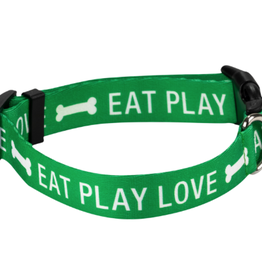Eat Play Love Dog Collar L/XL