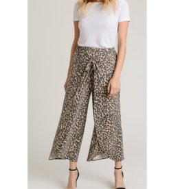 Set In Ways Leopard Print Gaucho Pants - Animal