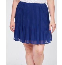 Until Midnight Pleated Short Soild Skirt - Royal Blue