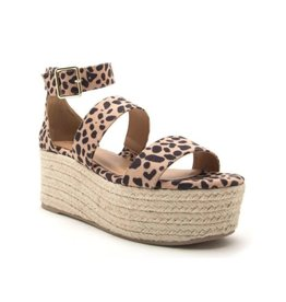 Love Connection Platform Sandals - Leopard