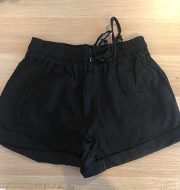 Straighten Out Drawstring Shorts - Black