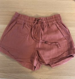 Straighten Out Drawstring Shorts - Mauve