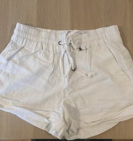 Straighten Out Drawstring Shorts - White