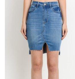 Dancin' Darlin' High Waist Denim Mini Skirt - Medium Wash