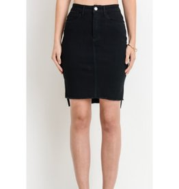 Lovers & Dreamers Midi Black Skirt - Black