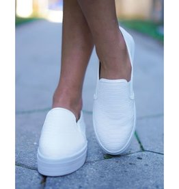Two Souls, One Love Slip On Sneakers - White