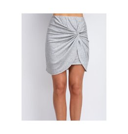 Ain't No Stopping Solid Skirt And Elastic Waist - H.Grey