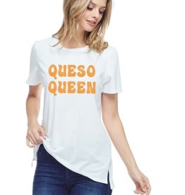 Queso Queen Graphic Top - Ivory