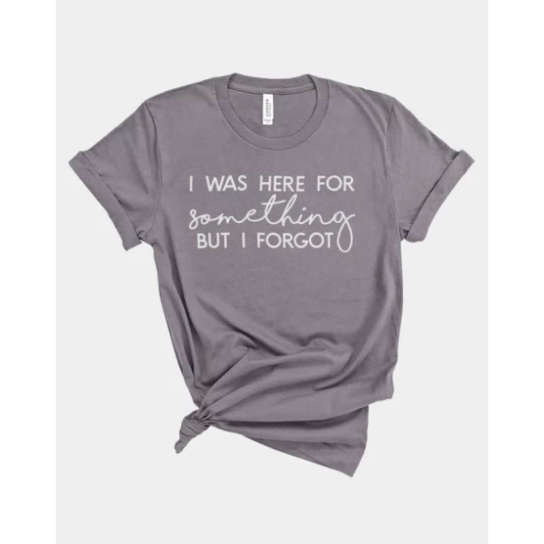 I Was Here For Something But I Forgot Graphic Tee - Charcoal