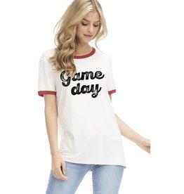 Game Day Graphic Top - Ivory
