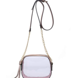 So In Love - Clear Light Pink Purse Gold Chain