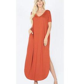 Be A Little Sweetie Maxi Dress- Copper
