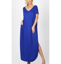 Be A Little Sweetie Maxi Dress- Denim Blue