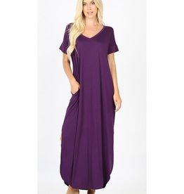 Be A Little Sweetie Maxi Dress- DK Purple