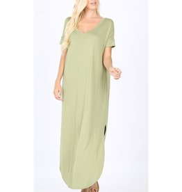 Be A Little Sweetie Maxi Dress- Sage