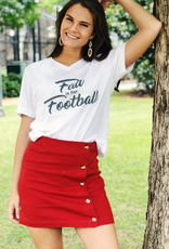 Fall Is For Football Graphic - V-Neck Tee