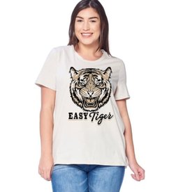 Easy Tiger Graphic Top - Ivory