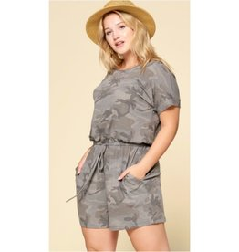 Barbie Babe Camouflage Romper - Camo Grey