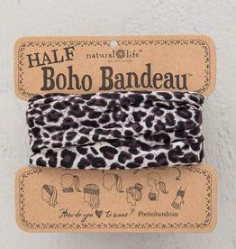 Half Boho Bandeau - Gray Leopard