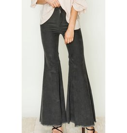 Seeing Stars Corduroy Flare Pants - Charcoal