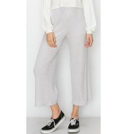 Time For Sunshine Elastick Waist Wide Leg Pants - Milky Laven