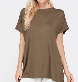 Arm's Wide Open Piko Short Sleeve Top - Olive