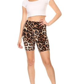 Accept The Change Leopard Fitted Biker Short - Leopard