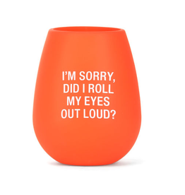 I'm Sorry Silicone Wine Glass