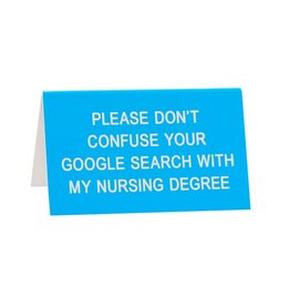 Nursing Degree Sign