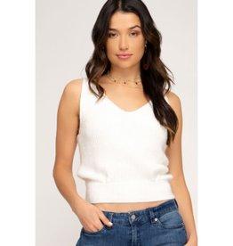 Feels Like Magic Sweater Cami Top - Off White
