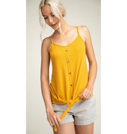 Follow The Beat Front Twist Tank Top - Mango