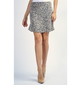 Walk Right Out Animal Print Pencil Skirt - Black