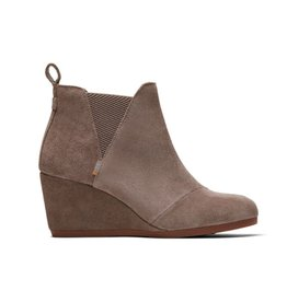 TOMS Kelsey Suede Bootie - Taupe Grey