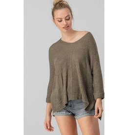 Have You Seen Her Dolman Sleeve Sweater - Olive