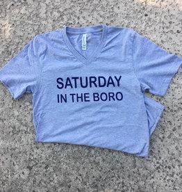 Saturday In The Boro Graphic Tee - Heather Grey