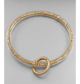 Flexible Jelly Key Chain - Gold