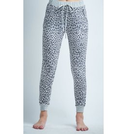 Dreaming of the Jungle Leopard Joggers - Ivory/Purple