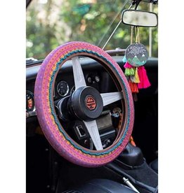 Steering Wheel Cover Plum Border