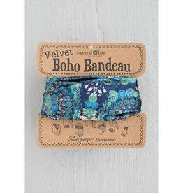 Velvet Bandeau Navy Cream Mandala