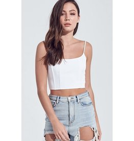Made You Look Cami Crop Top - Off White