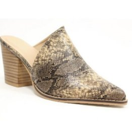 Call Me Back Heeled Mule - Beige/Brown