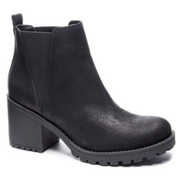 DIRTY LAUNDRY Lido Sedona Wedged Bootie - Black