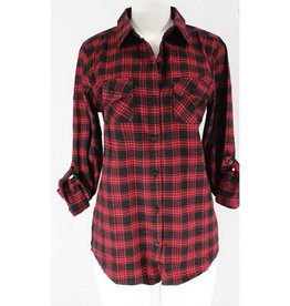 This Time Around Plaid Flannel - Red/Black